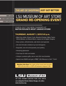 LSU Museum Store Grand Reopening